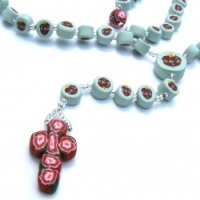 clay-rosary-immaculate-heart-rose-cross