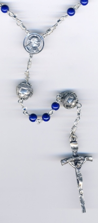 Lapis Sterling Rosary