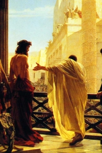Jesus Scourged - Jesus Before Pilate