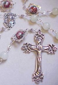 Celery Jade Cloisonne Rosary