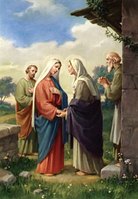 Mary visits her cousin Elizabeth