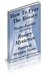 photo relating to How to Pray the Rosary Printable called Cost-free Rosary Booklets in direction of down load