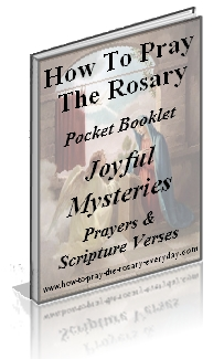 FREE Joyful Mysteries Rosary Booklet