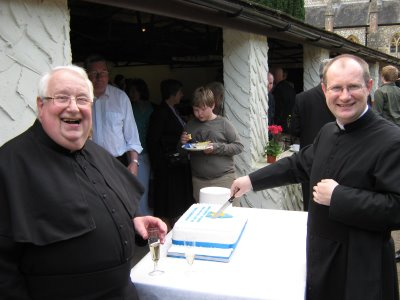 Fr. David Goddard (father) and Fr. Matthew Goddard (son)